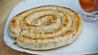 Куриные колбаски. Колбаски домашние для жарки и гриля.
