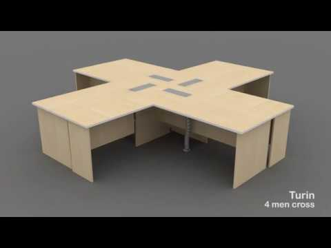 System Furniture: Turin Desking (Configurations)