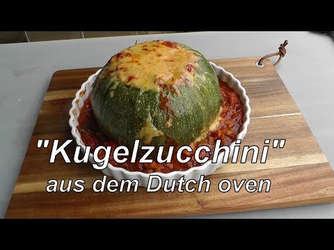 Kugelzucchini im Dutch Oven