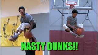 Tyler Currie Dunk Session w/ Elijah Bonds! Under Both Legs Over Person!