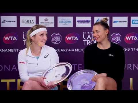 Bachinszky Timea & Zvonareva Vera WTA St.Petersburg Ladies Trophy 04.02.18