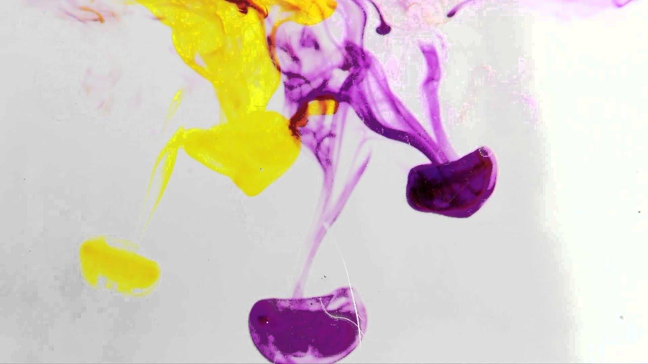 865 tintas violeta y amarillo efecto colores youtube - Que colores combinan con el lila ...