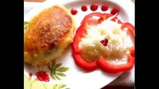 Зразы картофельные с грибами постные (видеорецепт)