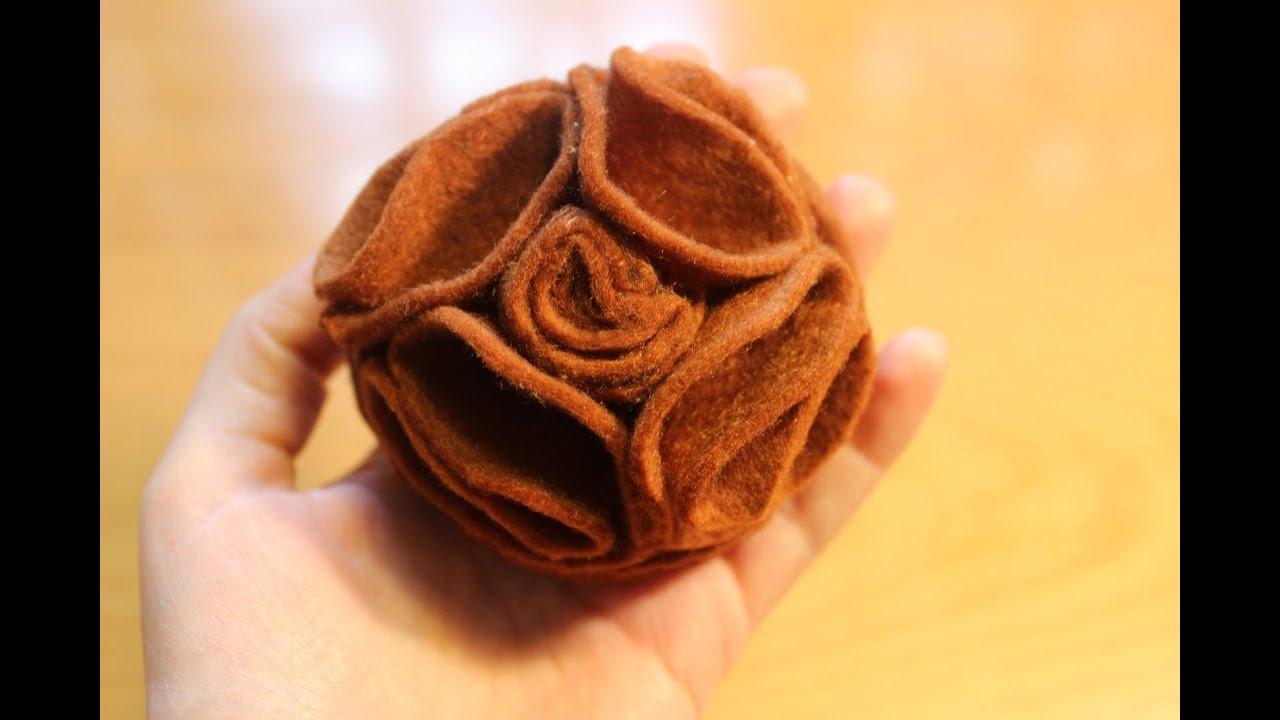 C mo hacer una flor de fieltro sin coser - Como hacer figuras de fieltro paso a paso ...