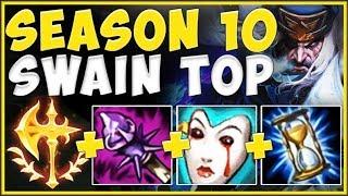 NEW SEASON 10 CONQUEROR HEALING MAKES SWAIN 100% ABSURD! SWAIN SEASON 10! League of Legends Gameplay