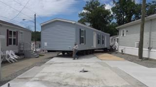 SOLD Moving a 2 bedroom 1 bath home onto its final location in Edison Mobile Estates