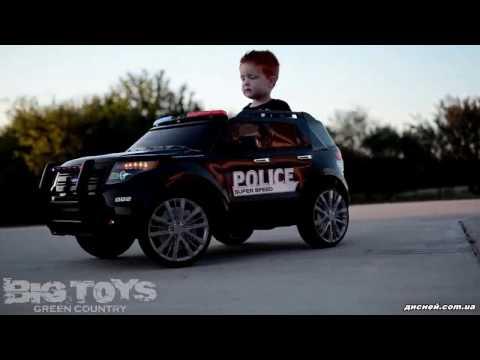 Детский джип M 3259 EBLR-4 электромобиль, Police, синий - дисней.com.ua