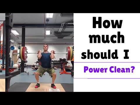 Power Clean tutorial: How Much Should I Be Able To Power Clean? Power Cleans for beginners
