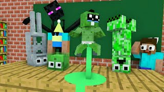 Monster school : ZOMBIE BABY BOOTLE FLIP - MINECRAFT ANIMATION