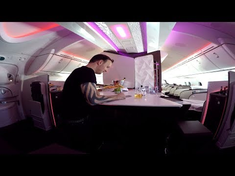 Virgin Atlantic UPPER CLASS London to Seattle|Boeing 787-9
