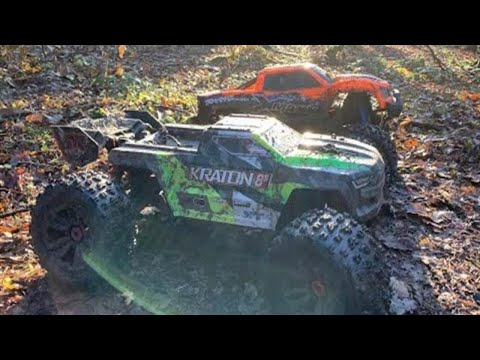 rc-bashers-uk---arrma-kraton-8s-vs-traxxas-x-maxx-8s---second-run-with-upgrades-to-both-cars