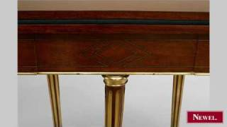 Antique French Louis Xvi Mahogany And Inlaid Flip Top Demilu