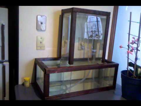 Fish open bottom tank