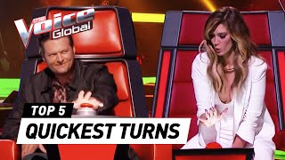 The Voice | QUICKEST COACH TURNS worldwide
