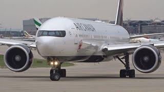 Air Canada Boeing 777-300ER landing & takeoff at Geneva/GVA/LSGG