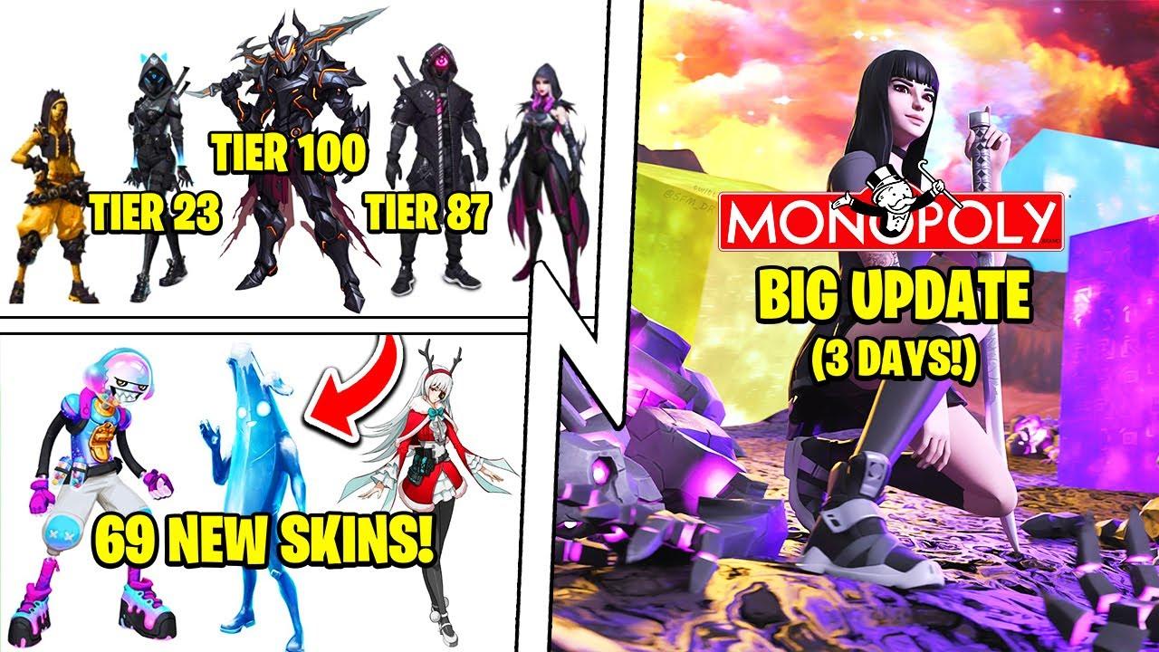 50+ New Skins, Season X Battle Pass, Christmas, The Monopoly Update!