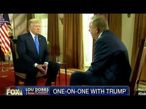 BREAKING Lou Dobbs interviews Donald Trump MAGA NAFTA North Korea October 2017 News