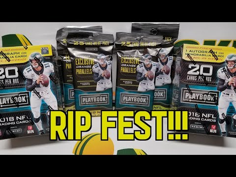 2018 Panini Playbook Football Retail Rip Fest. Blaster Boxes and Value Packs