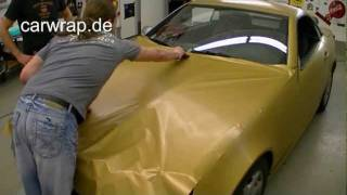 Mercedes Slk gold brushed Folierung Carwrap Carwrapping Mercedes Slk gold brushed