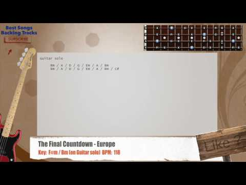 The Final Countdown - Europe Bass Backing Track with chords and lyrics