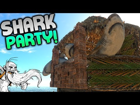 "Stranded Deep Gameplay - ""SHARK PARTY HOUSE!!!""  - Let's Play Walkthrough"
