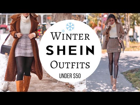 SHEIN Winter outfits under $50!   Winter Coats & Jackets try-on haul