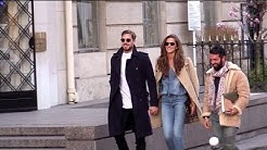 EXCLUSIVE:  Kevin Trapp and Isabel Goulart in Love walking in the streets in Paris