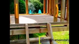 Play Crazy Single Tower Wooden Climbing Frame Install