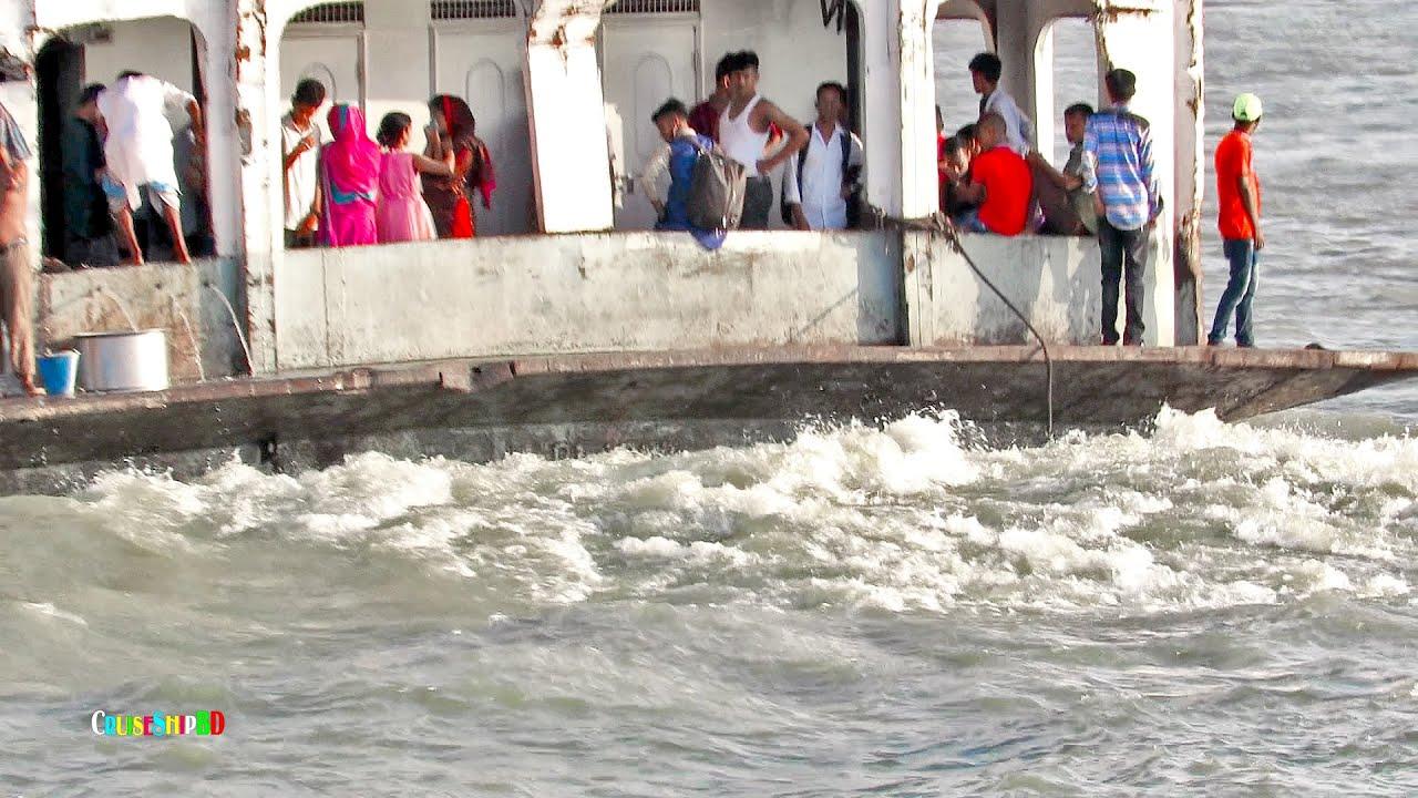 দুর্দান্ত গতিতে মেঘনায় ছুটছে অসংখ্য যাত্রী নিয়ে তুষখালীর এম ভি পূবালী_৭ Cruise Ship BD HD Video 2020