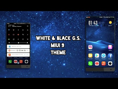 MIUI 9 Third Party Theme - White & Black G.S. | Not available in Theme Store | Dec 2017!