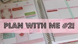 Plan with Me #2! | Erin Condren Life Planner