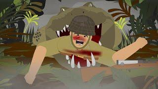 The Japanese Army VS deadly Crocodiles in WWII (Ramree Island Massacre) screenshot 4