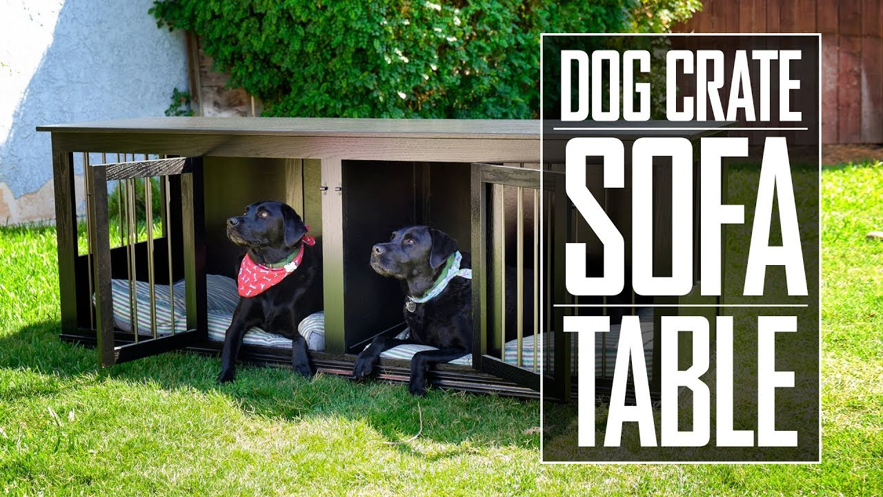 31 Dog Crate Sofa Table