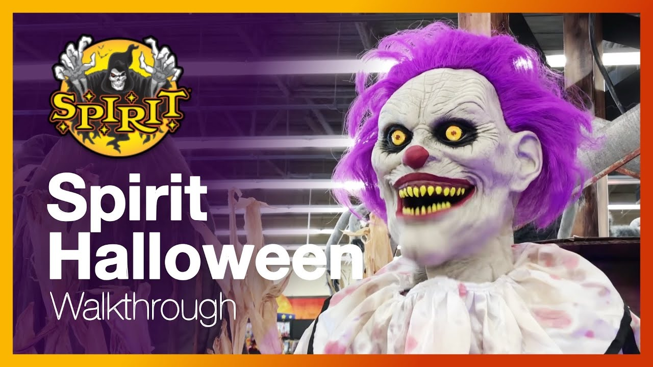 spirit halloween store walkthrough #1 - looking at animatronics