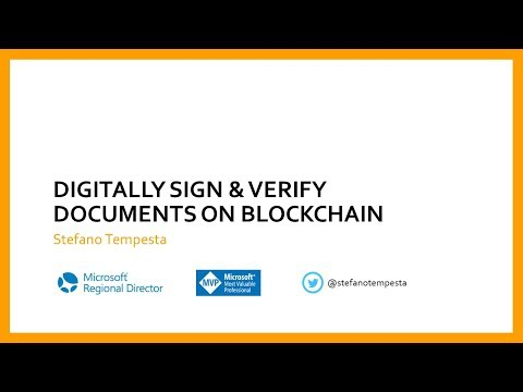 Digitally Sign and Verify Documents on Blockchain