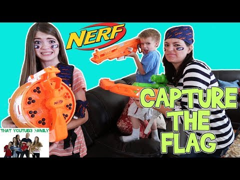 CAPTURE THE FLAG NERF Battle / That YouTub3 Family I The Adventurers