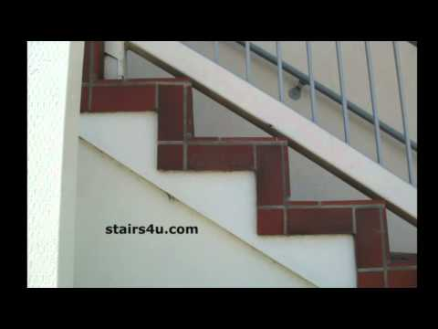 Tile Over Exterior Wood Stairs Office Building