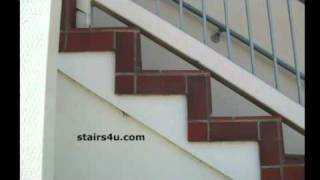 Tile Over Exterior Wood Stairs - Office Building Remodeling