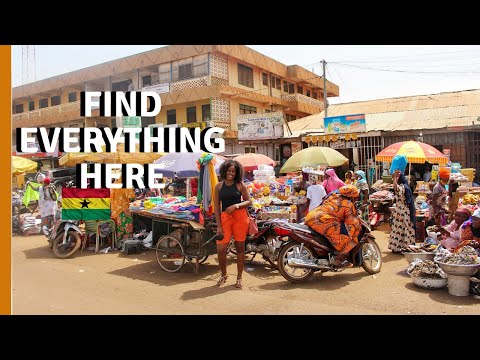 A WEST AFRICAN LOCAL MARKET - GHANA | EXPLORE LOCAL CLOTHING STORES IN TAMALE