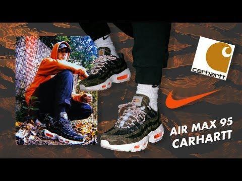 air max 95 carhartt on feet
