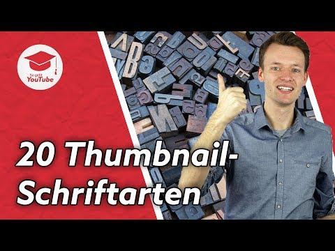 Die 20 Besten Kostenlosen Schriftarten Für YouTube Thumbnails #WieGehtYoutube