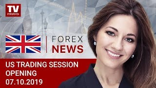 InstaForex tv news: 07.10.2019: Traders alert to remarks by Jerome Powell (USDX, DJIA, USD/CAD)