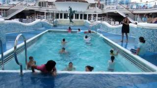 Repeat youtube video Cruise Ship Pool During Storm