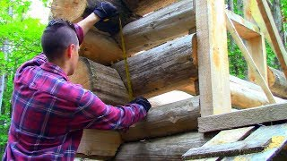 Why the Log Gaps Chinked vs Scribed Log Cabin Update Ep 10 13