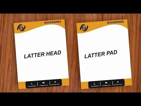 How to make a Letterhead Design Tutorial in Urdu Hindi thumbnail