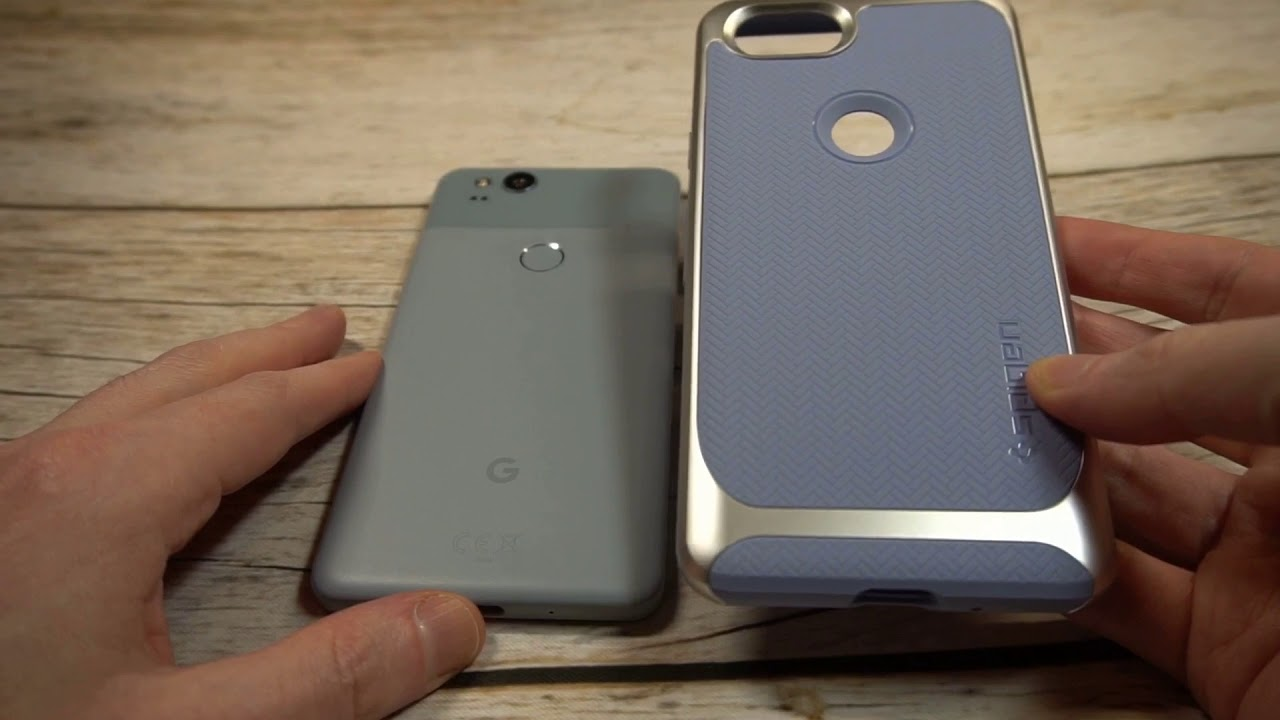 the latest 89a58 a4199 Spigen Neo Hybrid Kinda Blue Case For Pixel 2 Unboxing and Review