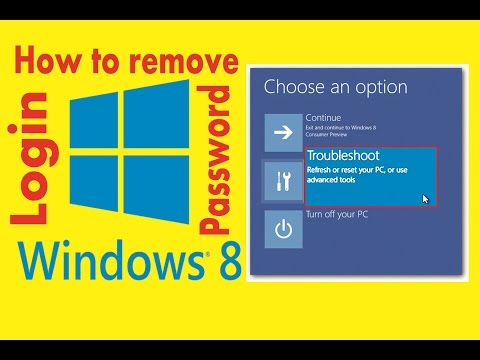 How to remove/reset administrator  forgotten password without software windows 8/8.1 laptop/computer