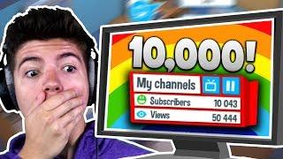 WE HIT 10,000 SUBSCRIBERS! | YouTubers Life #3