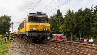 Kortsluiting in locomotief zorgt voor vertraging tussen Breda en Gilze Rijen (2013-10-04)