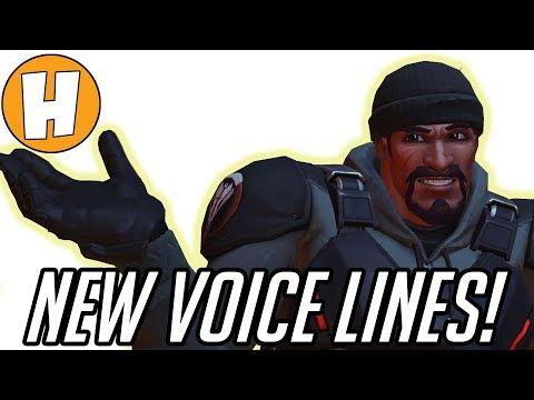Overwatch - NEW Skin Voice Lines - Blackwatch Reyes, Corsair Ana, Brigitte Interactions!   Hammeh